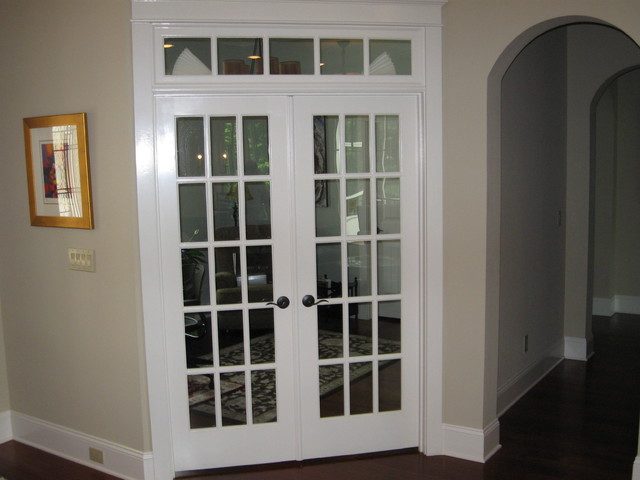 french doors interior office photo - 1