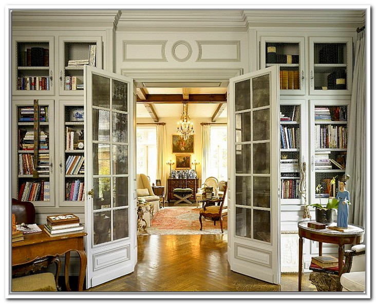 french doors interior office photo - 3