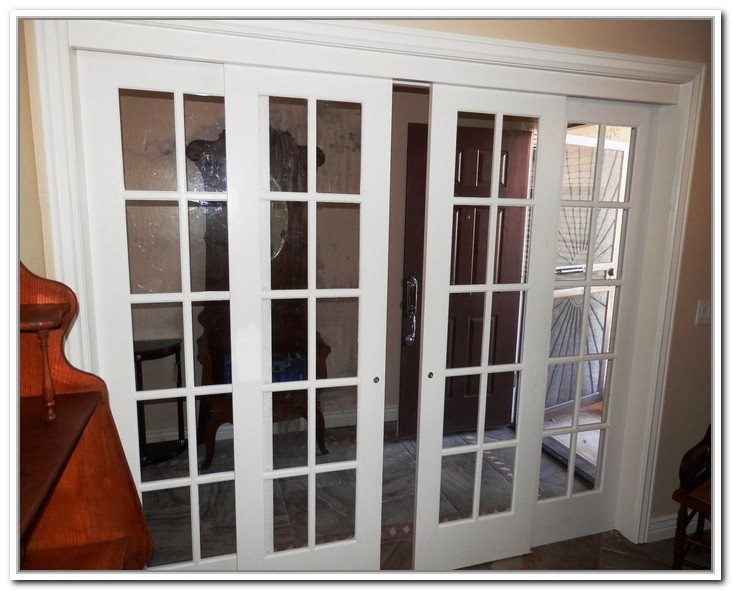 French doors interior sliding give measurement on the for Sliding glass door to french door