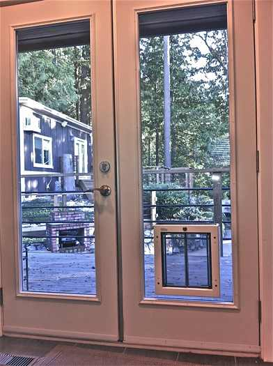 french doors with dog door photo - 4
