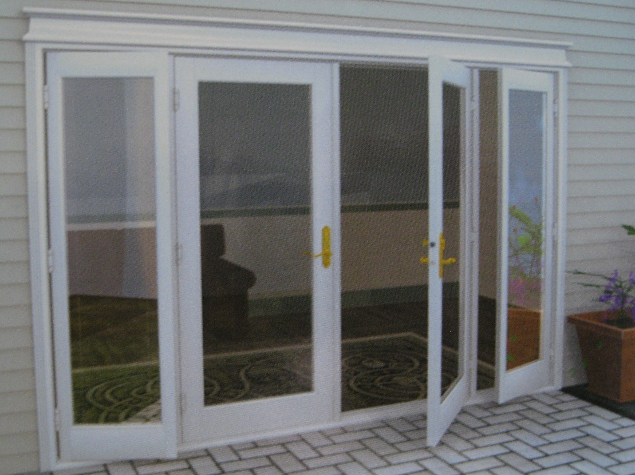 french double doors patio photo - 2