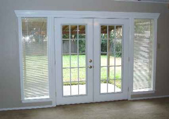 french double doors patio photo - 3