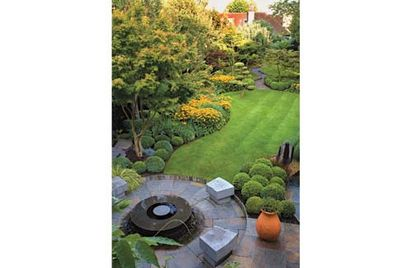 Garden Design Ideas For Long Thin Gardens Photo