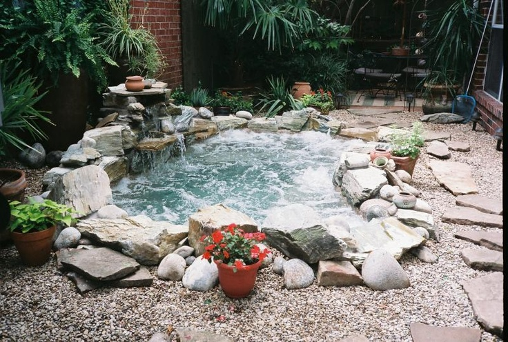garden design ideas hot tubs photo - 1