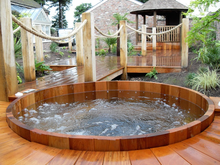 garden design ideas hot tubs photo - 2