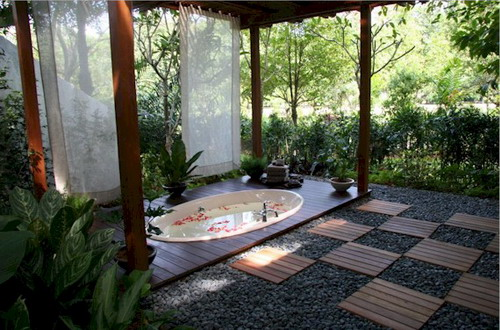 garden design ideas hot tubs photo - 5