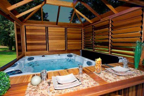 Garden Design Ideas Hot Tubs Photo
