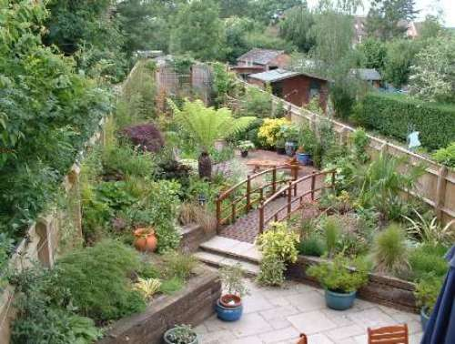 garden design ideas long narrow gardens photo - 2