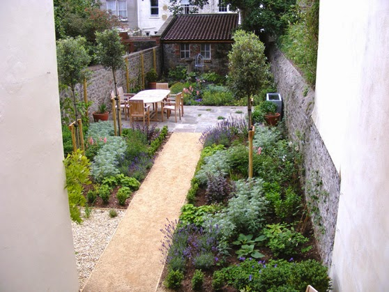 garden design ideas long narrow gardens photo - 3