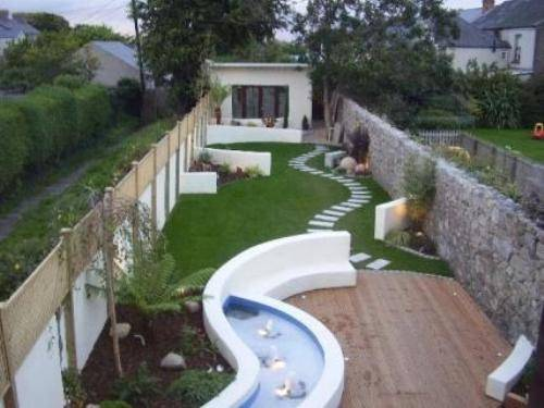 garden design ideas long narrow gardens photo - 4