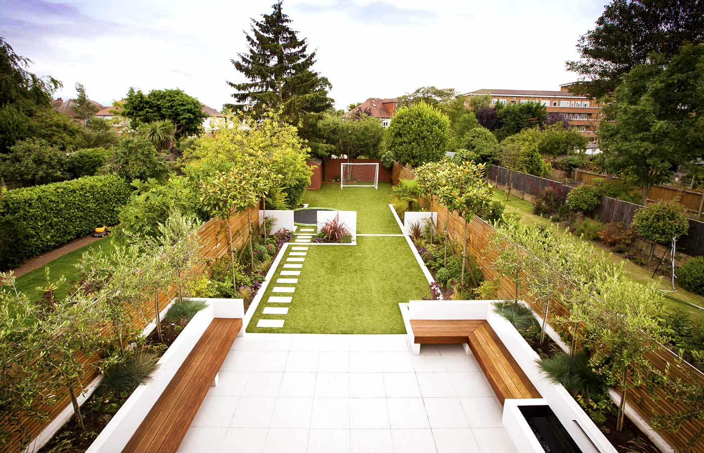 garden design ideas long narrow gardens photo - 6