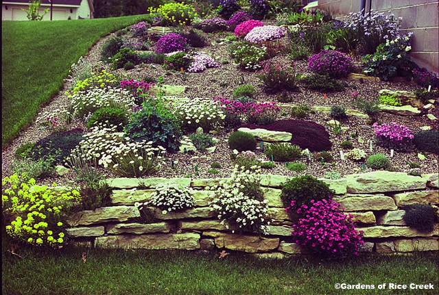 garden design ideas on a slope