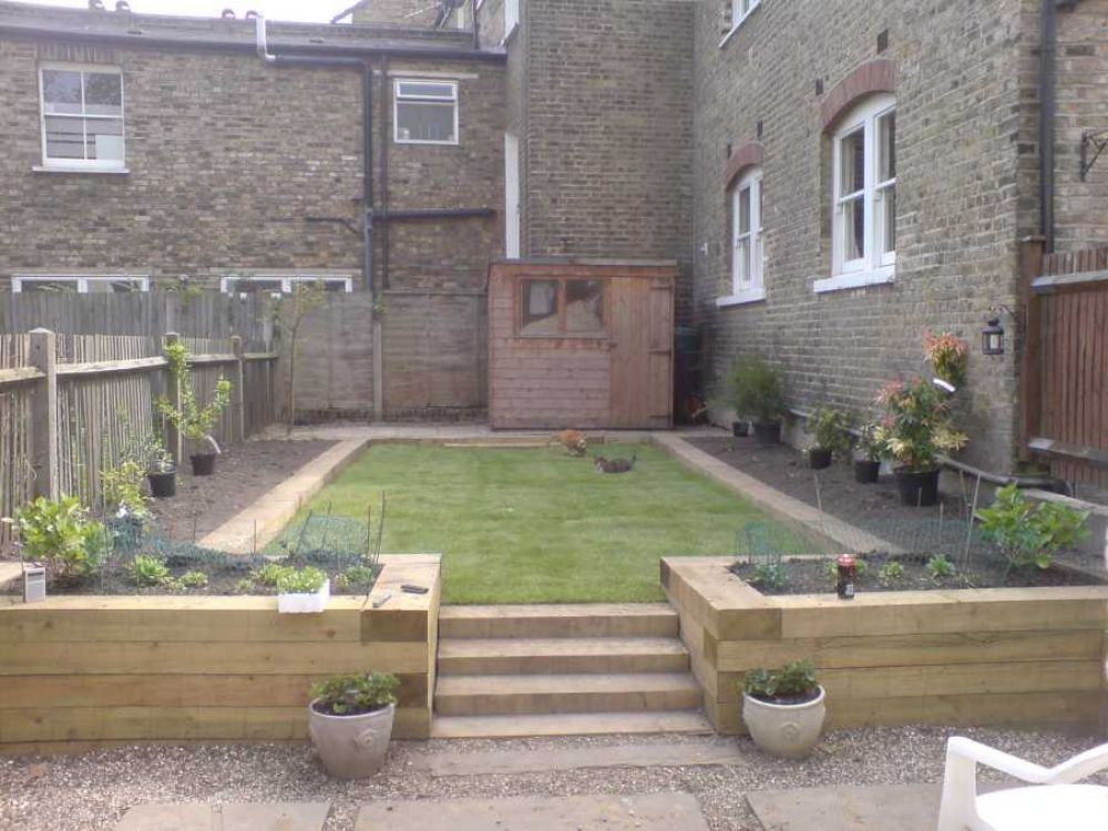 perfect garden design sleepers urban idyll landscaping pinterest consider the railway - Garden Design Using Railway Sleepers