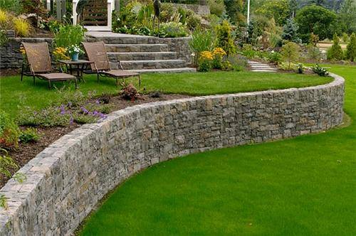 garden design ideas retaining walls photo - 3