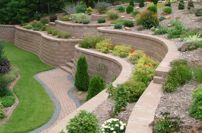 garden design ideas retaining walls photo - 4