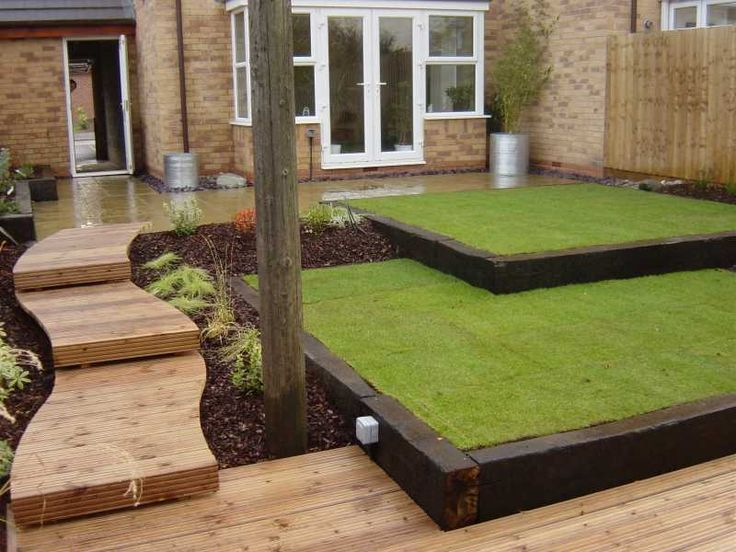 garden design ideas sleepers photo - 2