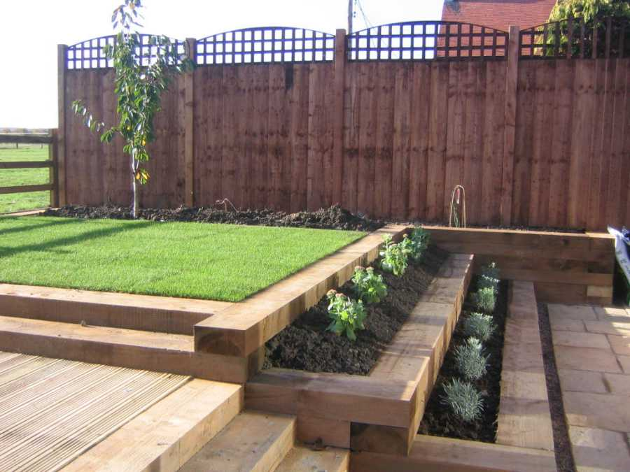 garden design ideas sleepers photo - 4