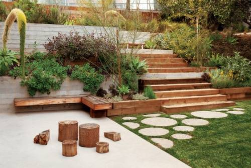 garden design ideas steep slope