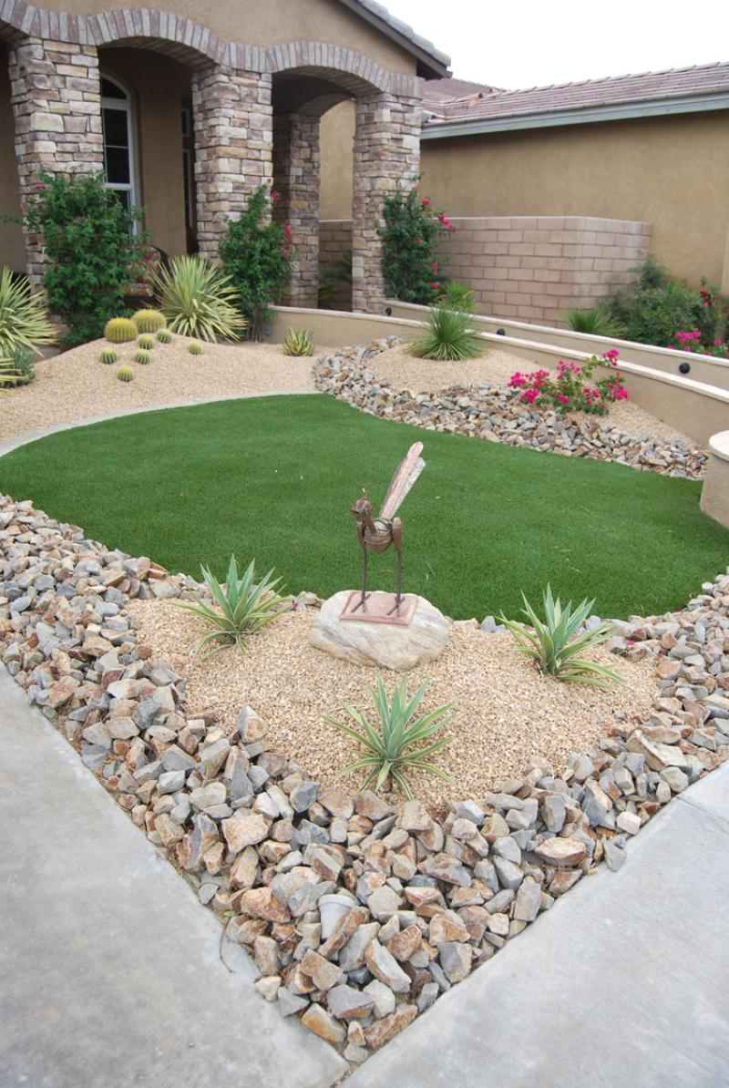 garden design ideas with stones photo - 6