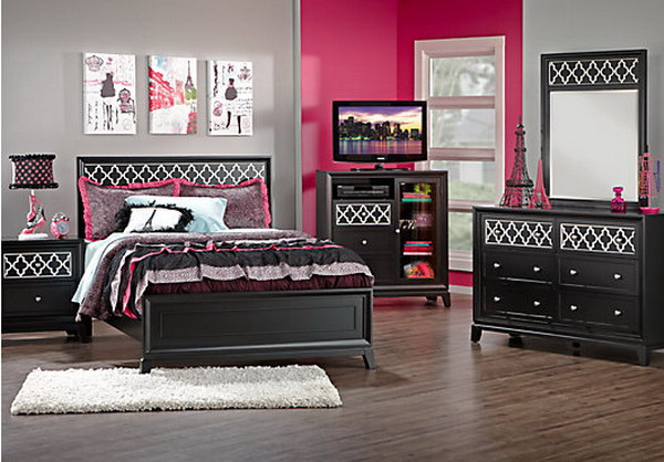 girls bedroom furniture black photo - 4
