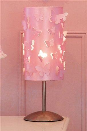 girls pink bedroom lamp photo - 2
