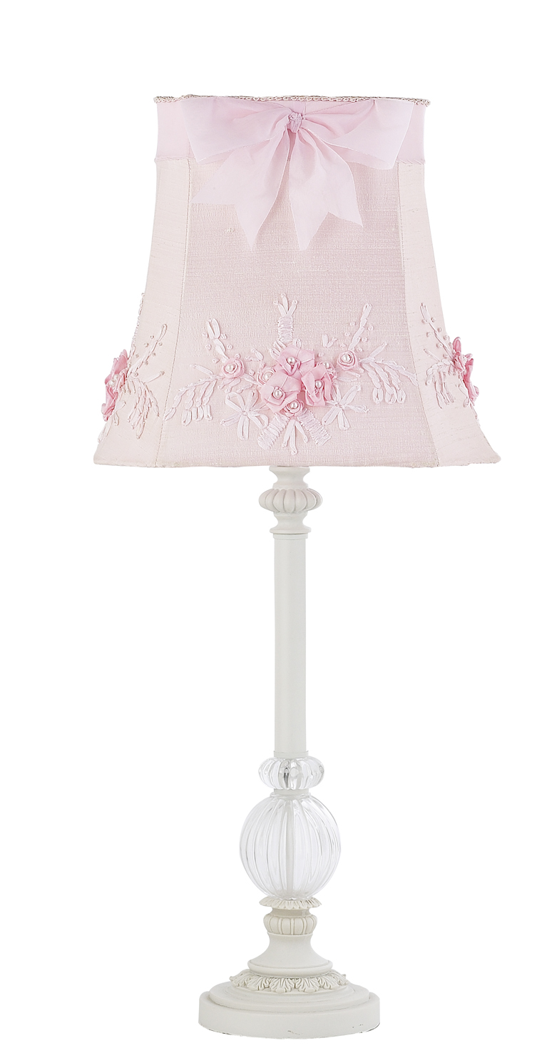girls pink bedroom lamp photo - 6