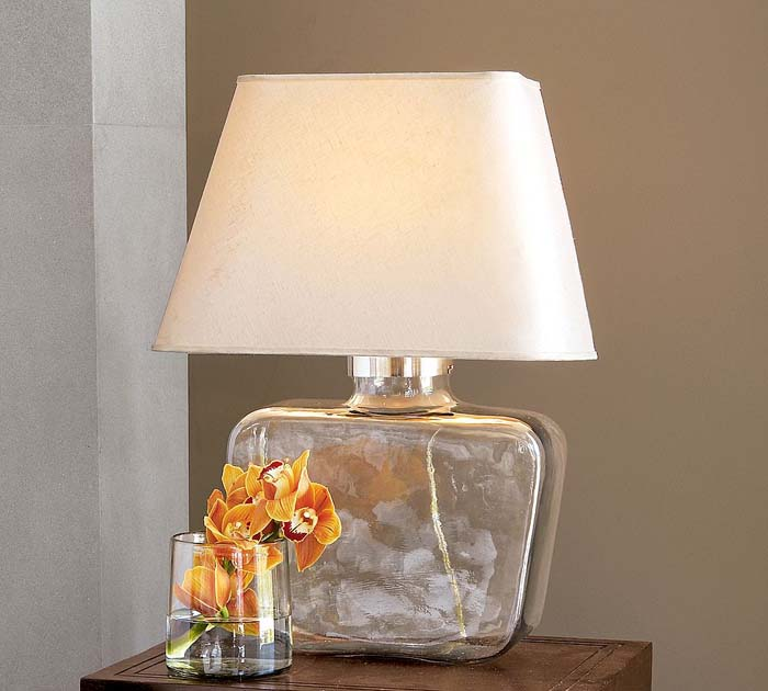 glass bedroom lamp photo - 2