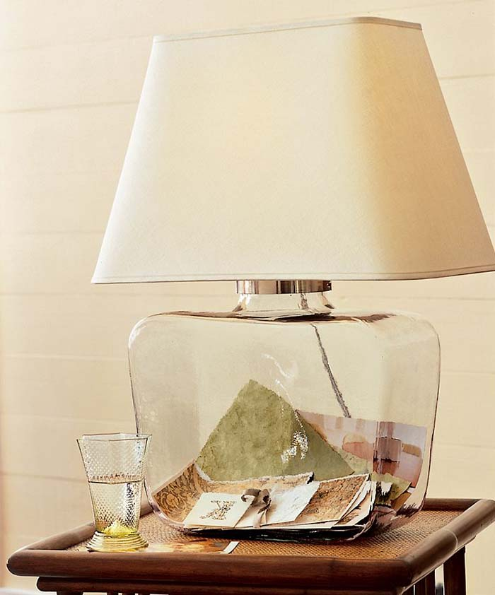 glass bedroom lamp photo - 3