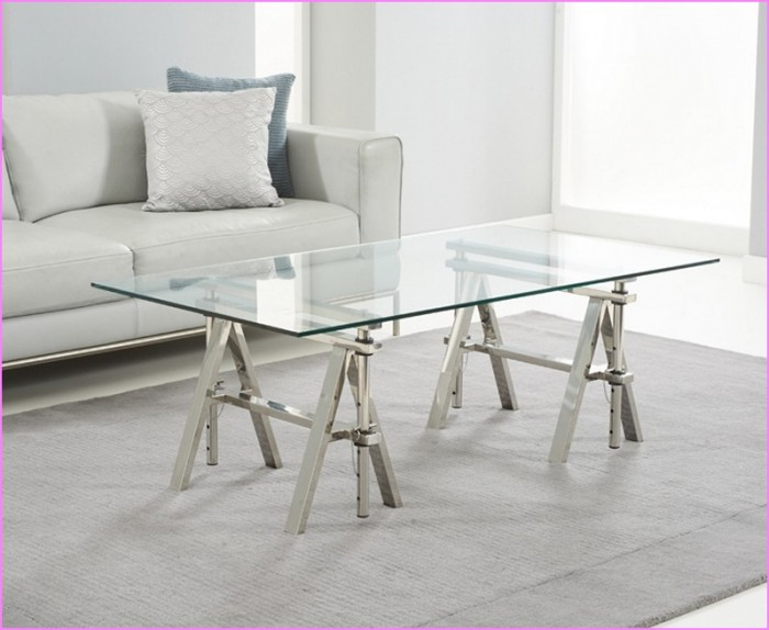 glass top coffee table design plans photo - 3