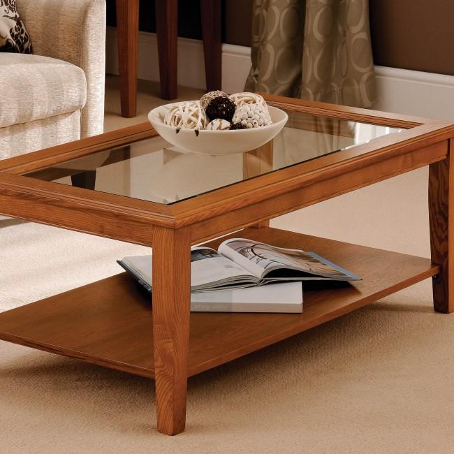 glass top coffee table design plans photo - 4