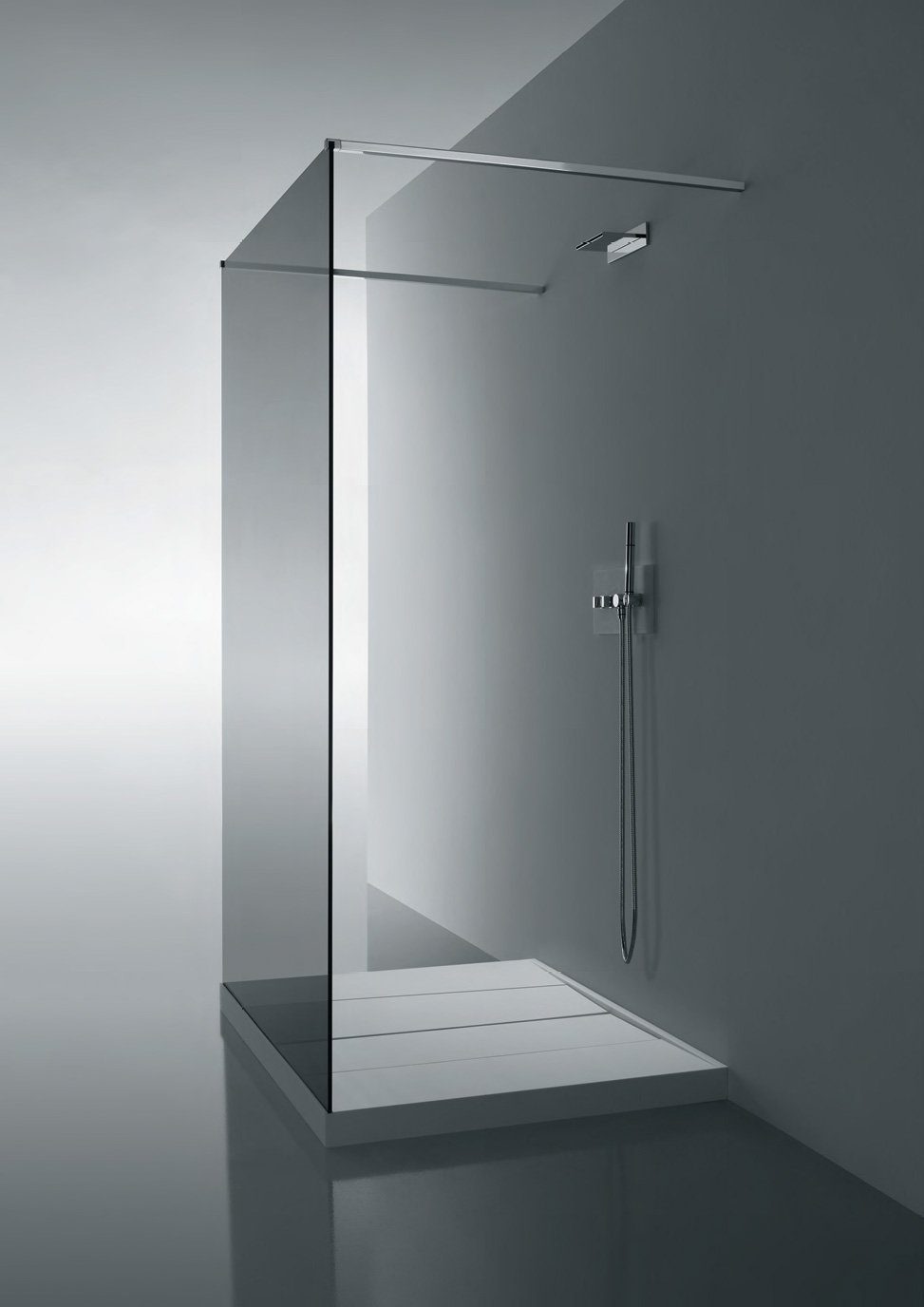 Glass Wall Dividers Bathroom Glamor And Modern Style