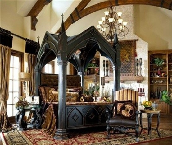 gothic bedroom interior design photo - 1