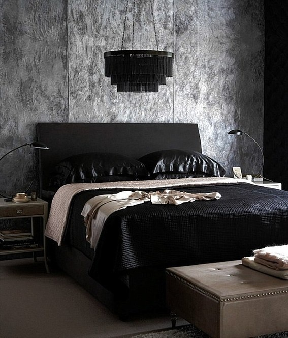 gothic bedroom interior design photo - 2