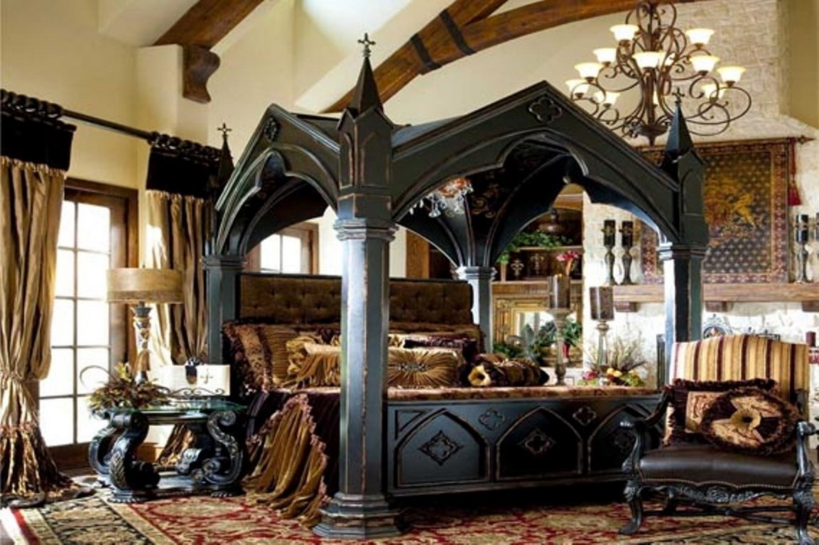 Gothic Bedroom Interior Design Photo   3