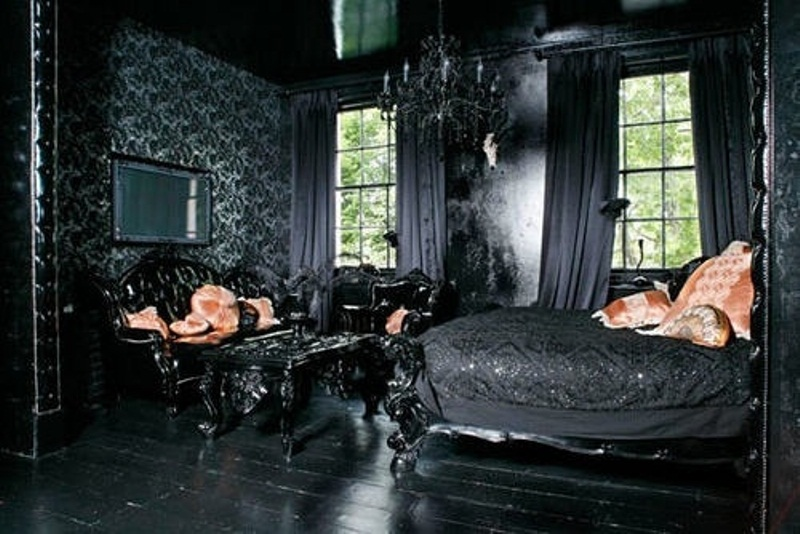 gothic style bedroom design photo - 1