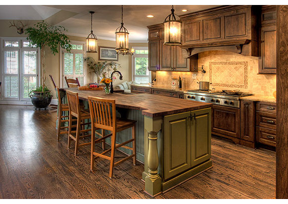gourmet country kitchen designs photo - 2
