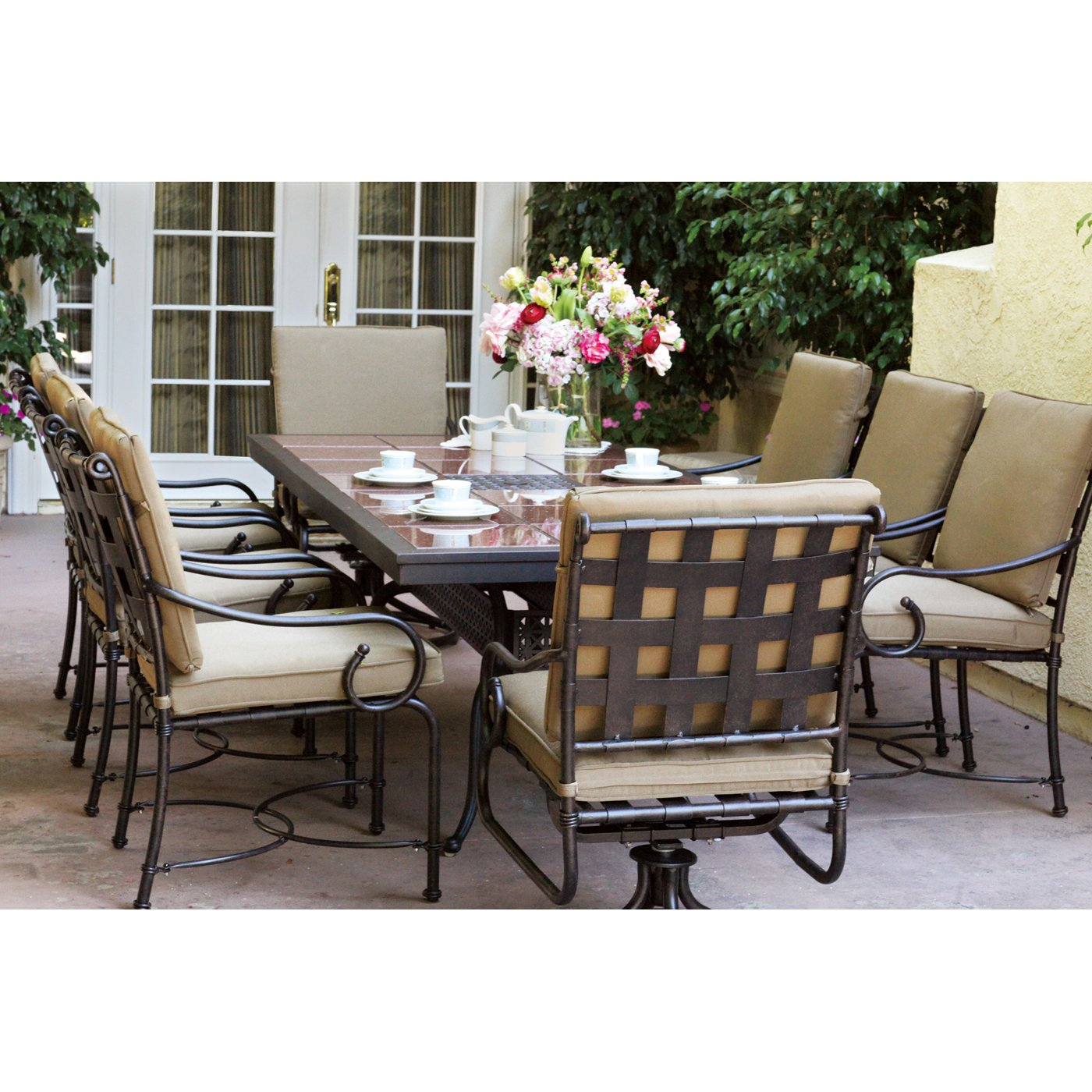 granite outdoor dining sets photo - 4