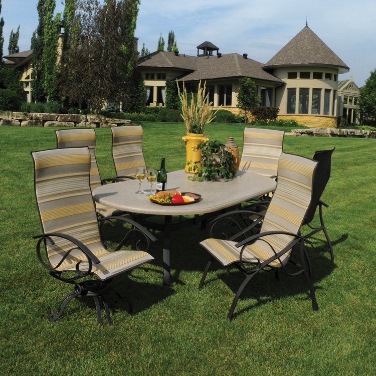 granite outdoor dining sets photo - 6