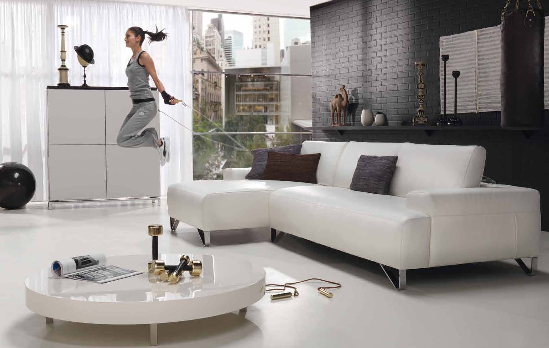 gray room with white furniture photo - 2