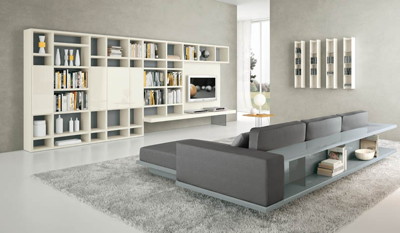 gray room with white furniture photo - 3