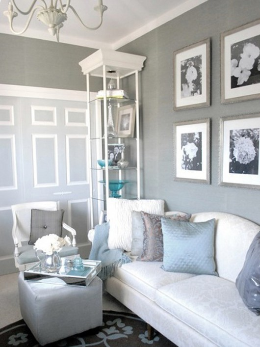 gray room with white furniture photo - 6