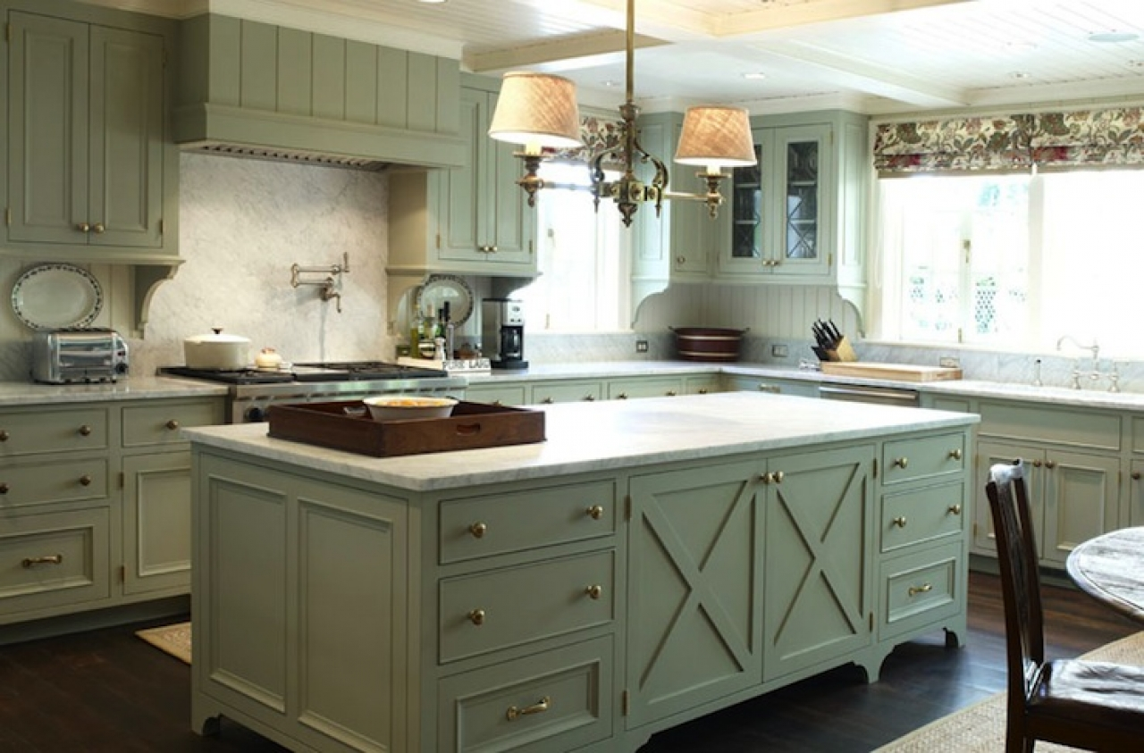green country kitchen designs photo - 2
