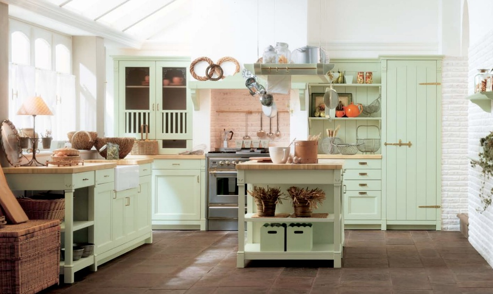 green country kitchen designs photo - 3