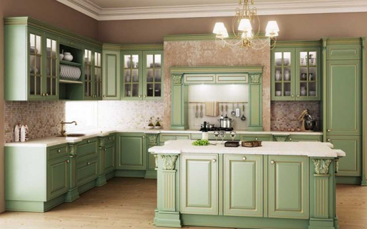 country kitchen green ~ bacill
