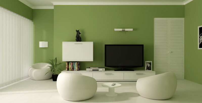 rooms with white furniture. green room with white furniture photo 3 rooms t