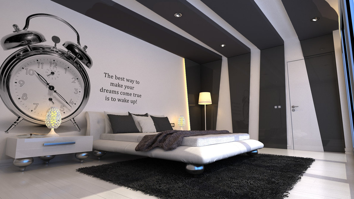 Grey And Black Bedroom Design Photo   2 Part 38