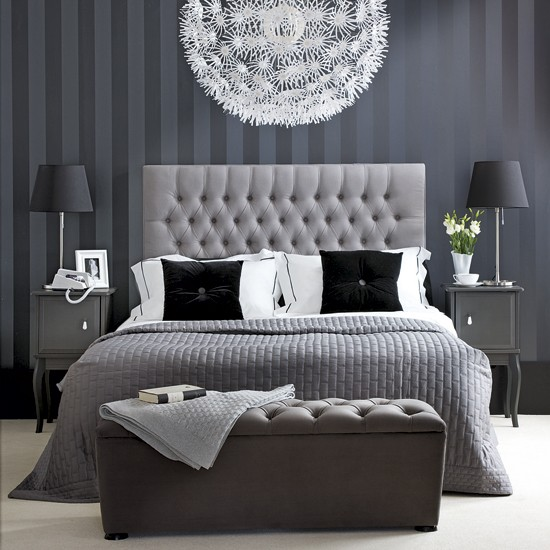 grey bedroom ideas decorating photo - 1