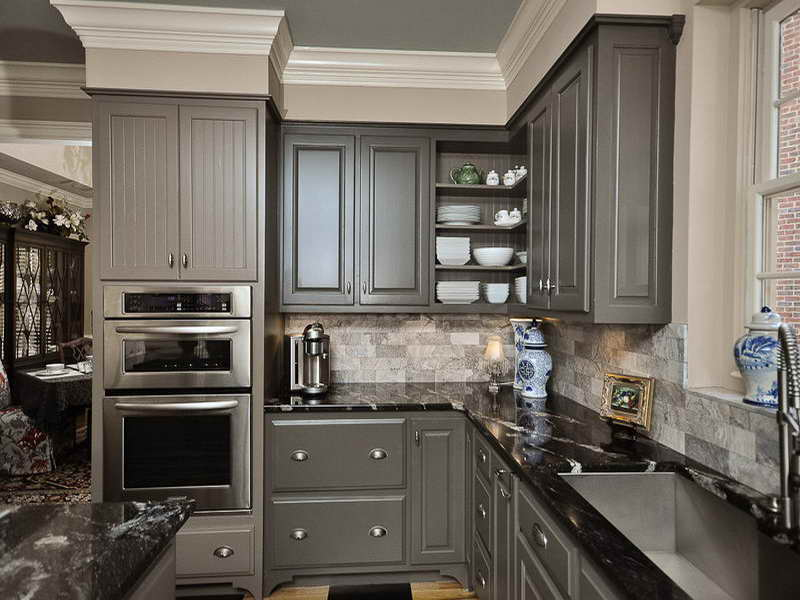 grey kitchen cabinets ideas photo - 1