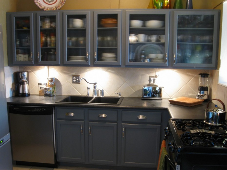 grey kitchen cabinets ideas photo - 4