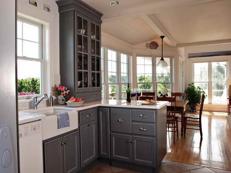grey kitchen cabinets ideas photo - 5